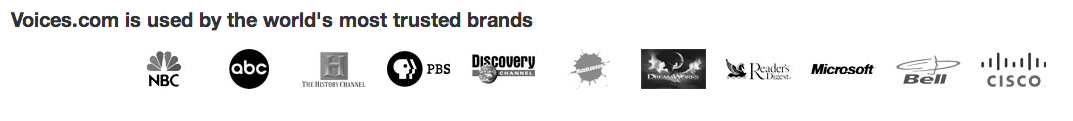 Using row of customer logos as social proof to increase conversion