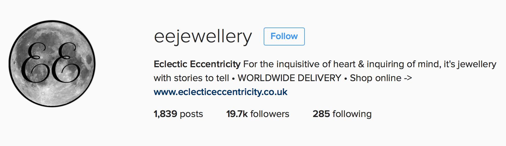 Eclectic Eccentricity Instagram profile