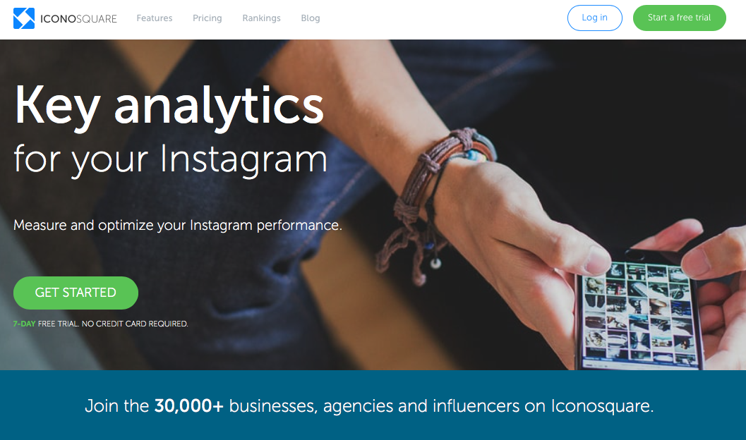 Screenshot of Iconosquare - Instagram Analytics app to optimize performance