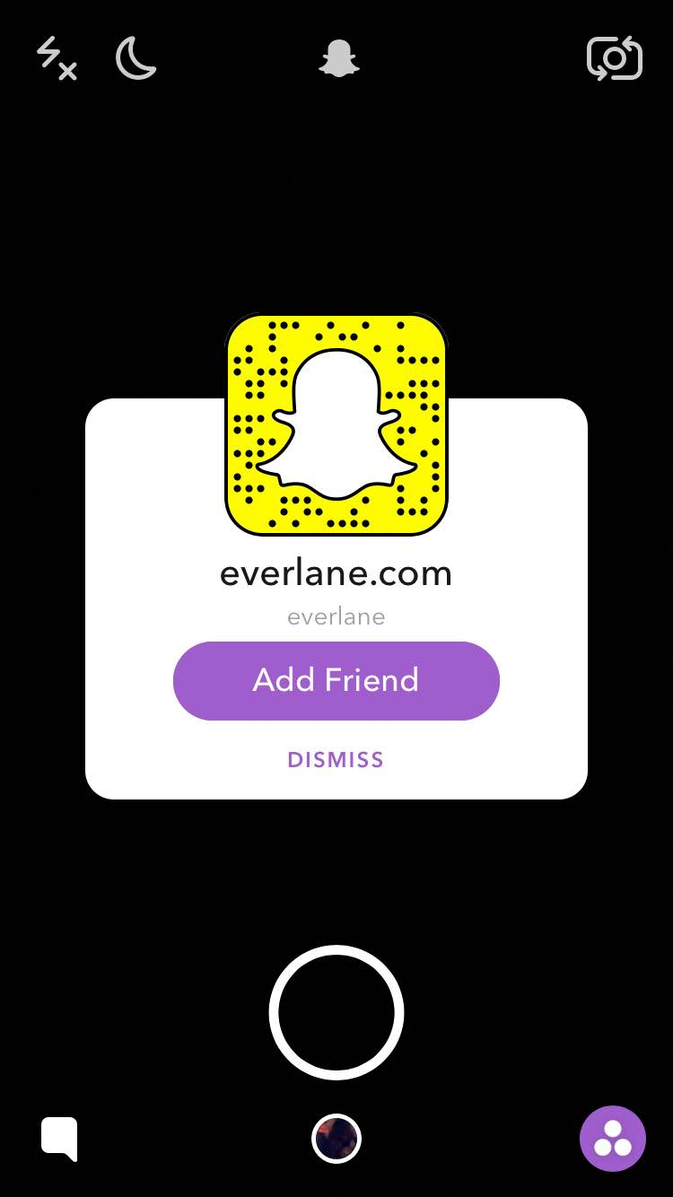 how everlane advertises in Snapchat