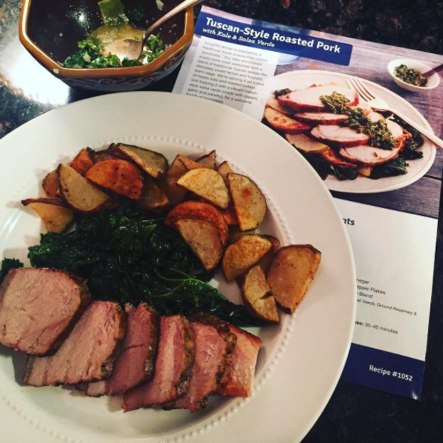 blue apron chicken meal