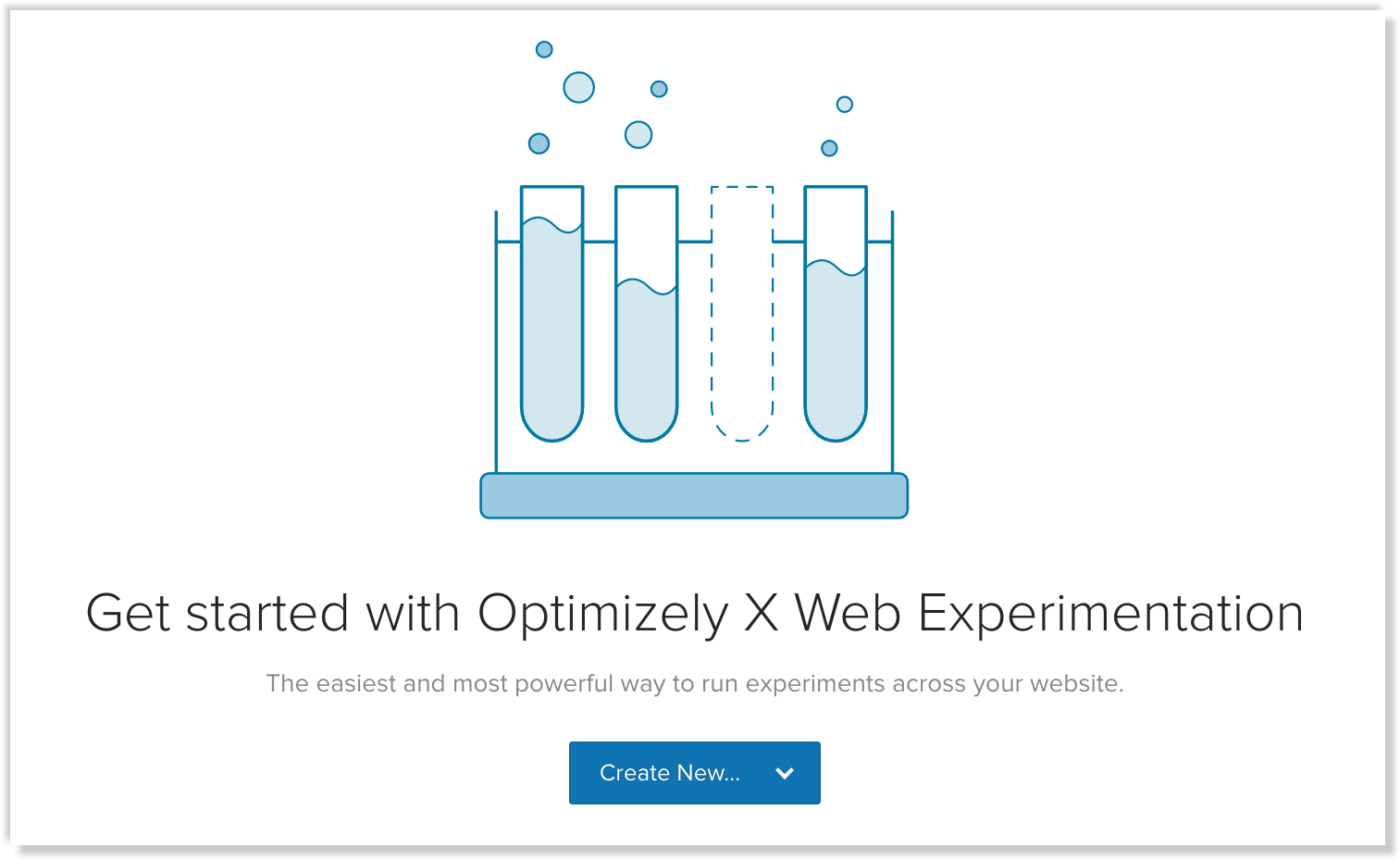 create an optimizely experiment