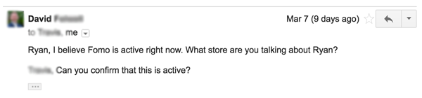 fomo inactive customer email responses