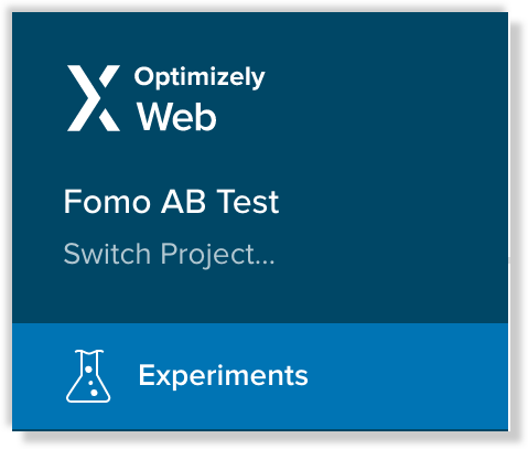 optimizely experiment tab