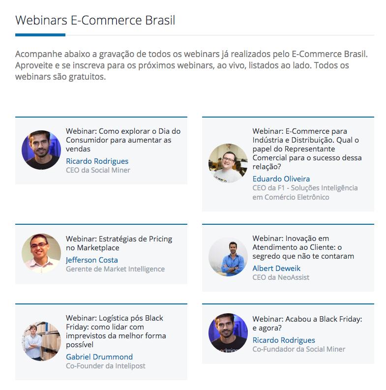 Webinars from ecommerce brasil