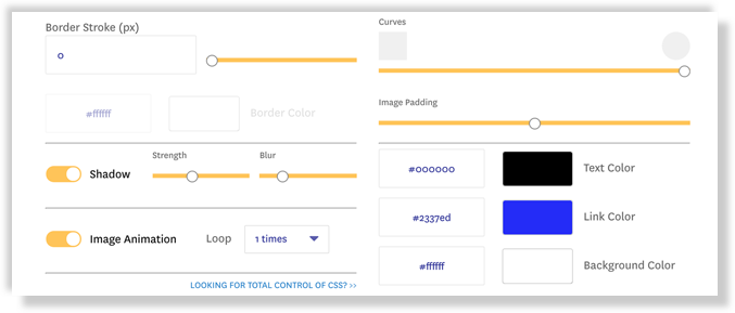 fomo theme advanced design settings