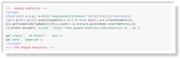 google analytics snippet