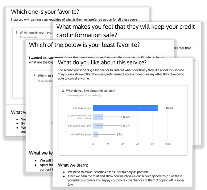 fomo google survey answers