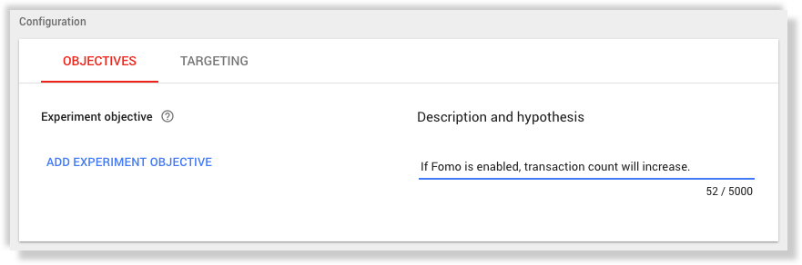 AB Test Fomo with Google Optimize