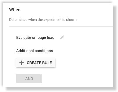 Google Optimize when targeting